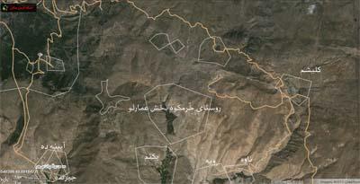 محدوده ی روستای خرمکوه: